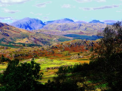 2008 09 23  Duddon Valley  Scafell range from Walna Scar Road