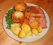 Yorkshire Pudding mit Roastbeef